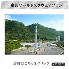 東武ワールドスクウェアパックチケット付きプラン